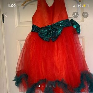 Other - Girls' red and green dress, size 8